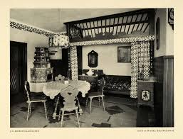 architecture tagged 1915 print sliwinski german home interior decorating farmer bed room table dku1