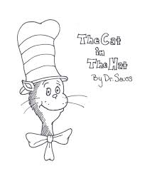 seuss hat coloring page kids drawing and coloring pages marisa