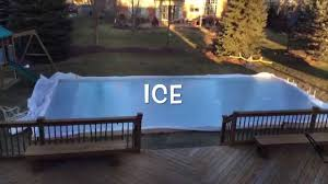 backyard ice rink time lapse youtube