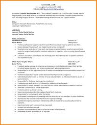 Social Work Resume Samples by 6 Social Work Resume Sample Hr Cover Letter