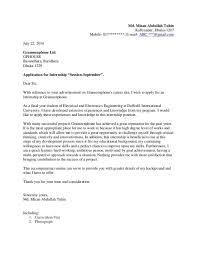internship cover letter templates student internship cover letter
