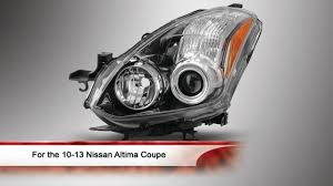 2010 nissan altima coupe youtube 10 13 nissan altima coupe oem style projector headlight youtube