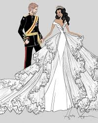 meghan markle wedding dress sketches purewow