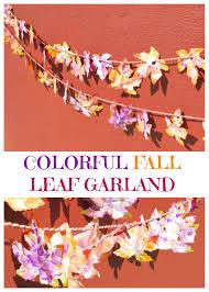 create a colourful fall leaf garland