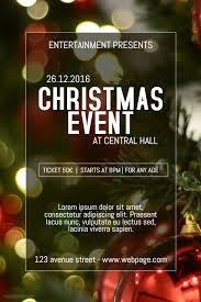 brown christmas poster christmas celebration event poster template christmas poster