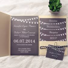 exquisite gold pocket chalkboard string lights wedding invitations