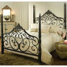 wrought iron bed frames queen wood canopy bed frame queen for