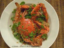 cuisiner crabe la cuisine des soeurs miam miam crabe a l ail et coriandre