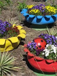 como hacer macetas con llantas recicladas paso a paso macetas de llantas recicladas patios y jardines