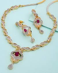 pink necklace set images Buy designer necklace sets hot pink stone necklace set online voylla jpg