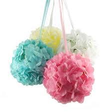 silk hydrangea hydrangea flower balls centerpiece 6 inch