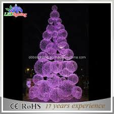 china 3d outdoor purple tree with led lights