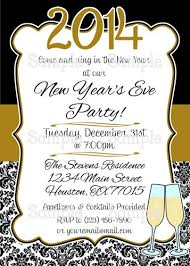happy new year invitation printable happy new year black gold personalize party invitation