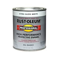 shop rust oleum professional white gloss enamel interior exterior