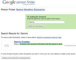 Find Peoples Address By Their Name S Person Finder Connects Boston Marathon Victims Loved