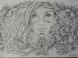 lowrider aztec art aztec woman drawings art lowrider arte tattoo
