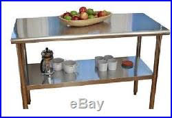 Kitchen Utility Table Island Stainless Steel Top Counter Cart Prep - Kitchen utility table