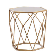 Gold Accent Table Blvd Judy Geometric Gold Accent Table Free Shipping Today