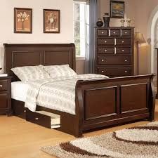 Ethan Allen Sleigh Bed with Bedroom Wooden Material Of Sleigh Beds For Inspiring Bed Design