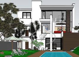 free 3d models houses villas house whit pool 2014 by