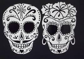 Sugar Skull Pumpkin Carving Patterns by Day Of The Dead Art Catrina Sugar Skull Couple 36 37643 44