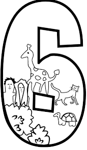 number 6 clipart