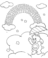 funshine care bears coloring pages funshine care bears coloring