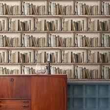 Bookshelf Background Image Splendour Neutral Bookcase Wallpaper Paste The Wall Vinyl
