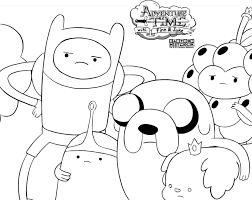 adventure time coloring pages free to print coloringstar