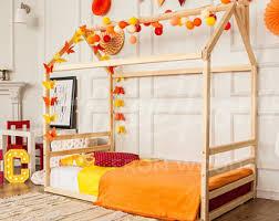 Kids Platform Bed Children Full Queen House Bed Frame Bed Children
