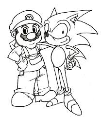 sonic hedgehog coloring pages coloring sheet free draw