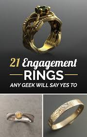nerdy wedding rings 21 ridiculously gorgeous geeky engagement rings