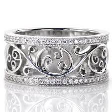 filigree wedding band custom design rings jewelers