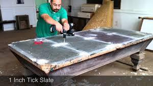 3 piece slate pool table price furniture full slate pool table weight elegant steepleton tables