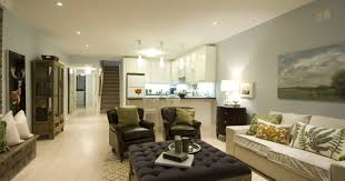 living room stunning open plan kitchen with living room feat l