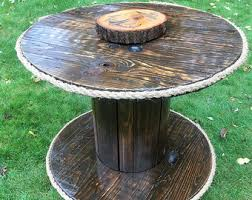 Cable Reel Table by Spool Table Etsy
