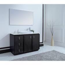 brewster 48 inch modern single sink vanity faux marble top deep