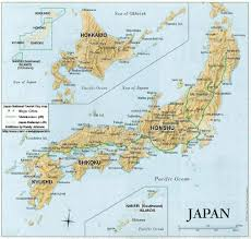 Japan Usa Map by Japanese Cities