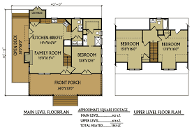 cottage floorplans small 3 bedroom lake cabin with open and screened porch