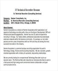 recruiter resume exle senior technical recruiter resume tomyumtumweb
