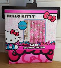 kitty pink fabric shower curtain 72x70 target ebay