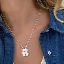 mothers necklace charms silver s necklace with children charms mynamenecklace