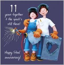 11th anniversary gifts for him 11th wedding anniversary card co uk office products