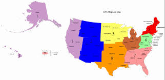 Map Of Usa Regions by Gpa