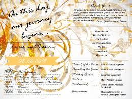 wedding program sles wording sle of wedding programs exles outside the box wedding