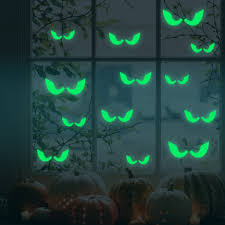 halloween body stickers honana dx 166 18pcs halloween fluorescent glow furtive eyes wall