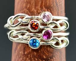 mothers infinity ring amethyst infinity ring silver knot ring infinity ring