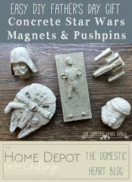 concrete star wars magnets u0026 pushpins easy diy father u0027s day gift