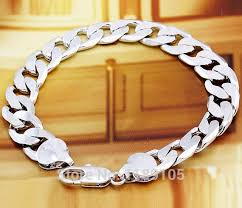 men white gold bracelet images Italian high quality 18k 18ct real white gold filled men 39 s jpg