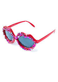 Party Glasses Swarovski Crystal by Gasoline Glamour Loud As Hell Lips Glasses Dolls Kill